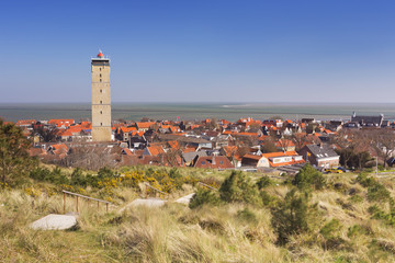 West-Terschelling and Brandaris lighthouse in The Netherlands