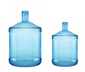 big and small plastic gallon containers