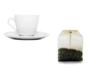 tea bag and a cup