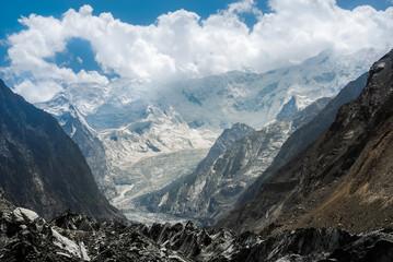 Keuken foto achterwand Gletsjers Bualtar glacier in Karakoram Range, North Pakistan