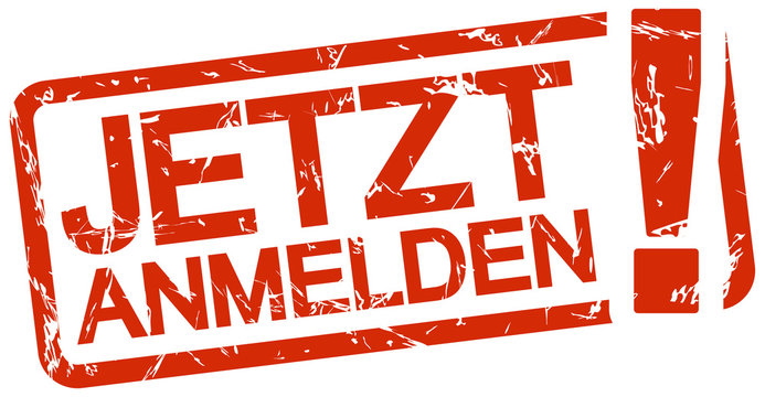 red stamp with text Jetzt anmelden
