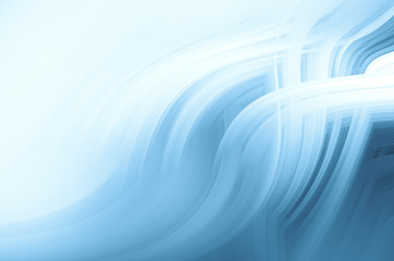 Printed roller blinds Fractal waves Blue abstract background