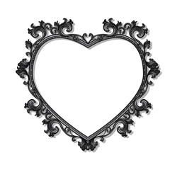 frame in the shape of heart for picture or photo