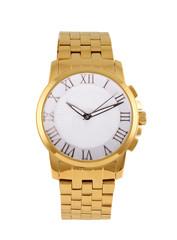 golden modern wrist watch