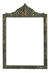 traditional low relief Thai definition metal work frame