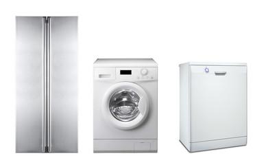 refrigerator, washing machine and dishwasher