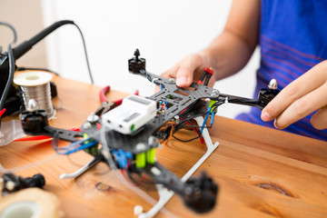 Drone building at home