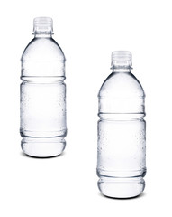 small bottles of water isolated