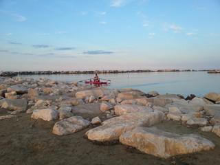 Lifeguard with paddleboats