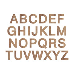 Wooden alphabet for design. ABC vector wood  isolated letters. New nature old wood typography. Decorative wood font. Vector illustration.