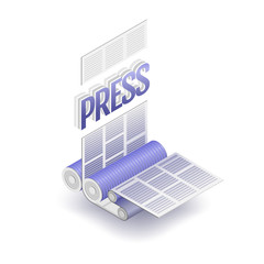The press word