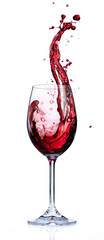 Printed roller blinds Alcohol Red Wine Splashing In Glasses