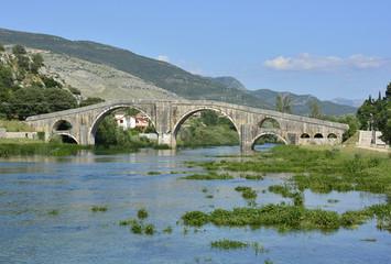 Arslanagica Most over Trebisnjica River in Trebinje, Bosnia, also known since 1993 as Perovica Bridge. Built by Ottomans in 1574
