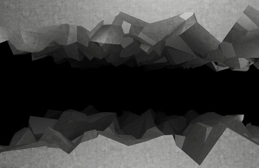 fragments from the dark abyss. 3d rendering