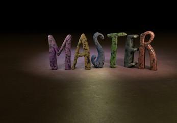 Master, 3D Typography