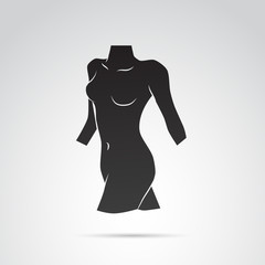 Woman shape vector icon.
