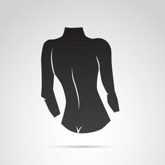 Woman body vector icon.