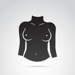 Breast vector icon.