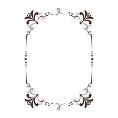 frame victorian vintage old ornate decorative vector illustration