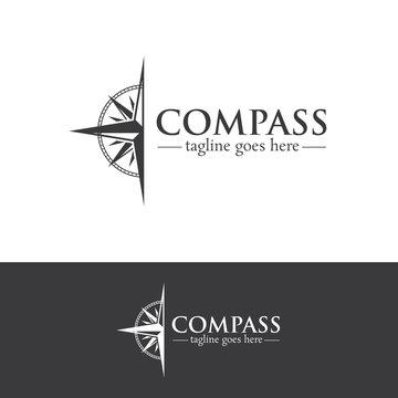 Compass Logo Design Creative Concept Template v.4