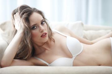 Portrait of woman in lingerie