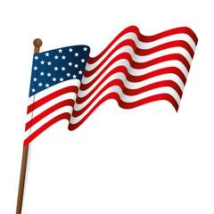 usa united states of america flag waving patriot symbol vector illustration