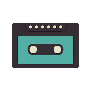 old retro cassette vintage stereo tape element vector illustration