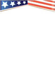 American flag on white background frame with blank space graphic vector image EPS10