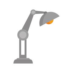 desk lamp work office  utensils workplace objects vector illustration
