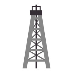 factory and industry plant equipment oil tower structure vector illustration