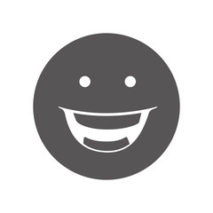 emoticon happy face cartoon smiley expression emotion vector illustration