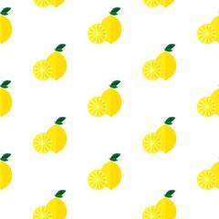 Seamless pattern with lemons.
