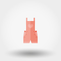 Rompers icon. Flat.
