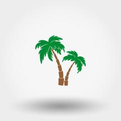 Palms icon. Flat.