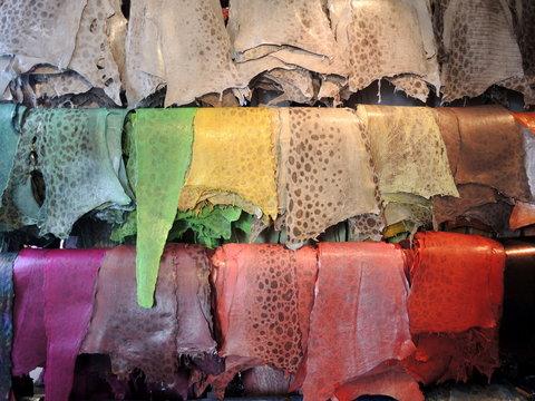 Cuir de poissons coloré 3