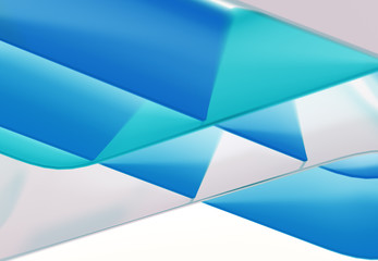 Abstract lines and 3D coloful shapes with wave form. 3d illustration