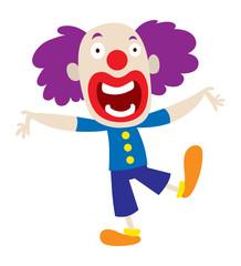 Clown character vector cartoon