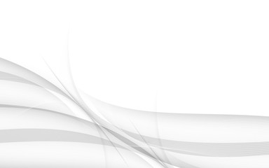 Abstract gray background with wave. Vector