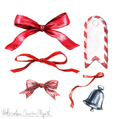 Poster Waterverf Illustraties Watercolor Christmas Clipart - Bows