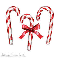 Watercolor Christmas Clipart - Candy Cane