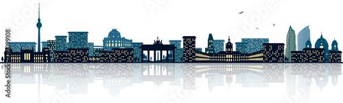 berlin skyline stockfotos und lizenzfreie vektoren auf bild 119099108. Black Bedroom Furniture Sets. Home Design Ideas