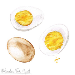 Watercolor Food Clipart - Egg