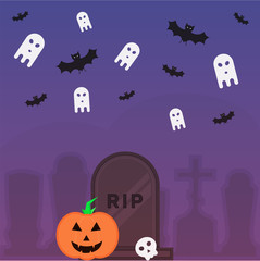 Abstract Halloween holidays poster vector design