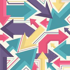 Arrows retro poster vector design