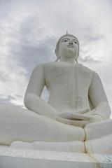 White Buddha statue in Tak province Thailand