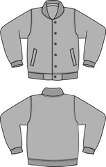 Illustration of baseball jacket
