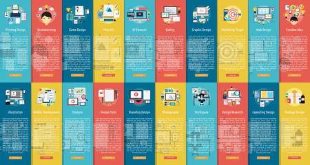 Design and Development Vertical Banner Set