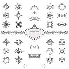 Calligraphic design elements set.