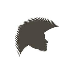 silhouette punk mohawk face