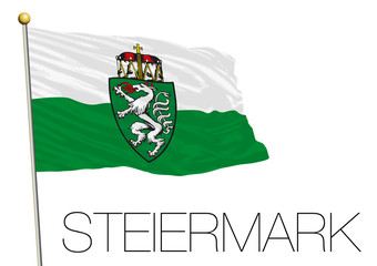 Styria flag, land of Austria, Europe